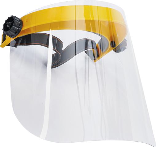 Gesichtsschutzschild transparent